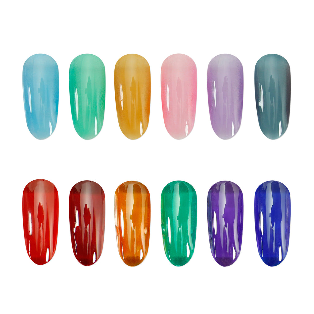 Gel Polish Jelly Gemstone Colours