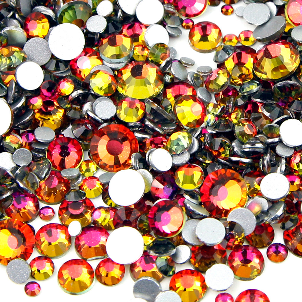 【On Fire】 Glass Rhinestone Face Gems 2mm-5mm