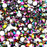 【Rainbow】Glass Rhinestone Face Gems 2mm-5mm