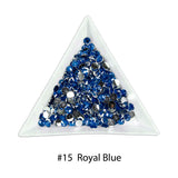 #11 Royal Blue - Bag of Flat Back Rhinestone Face Gems in Choice of 2,3,4,5 or 6mm