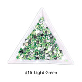 #16 Light Green - Bag of Flat Back Rhinestone Face Gems in Choice of 2,3,4,5 or 6mm