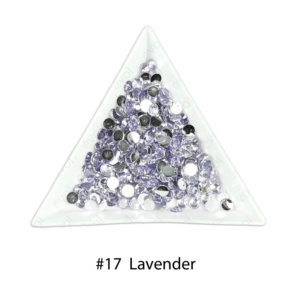#17 Lavender - Bag of Flat Back Rhinestone Face Gems in Choice of 2,3,4,5 or 6mm