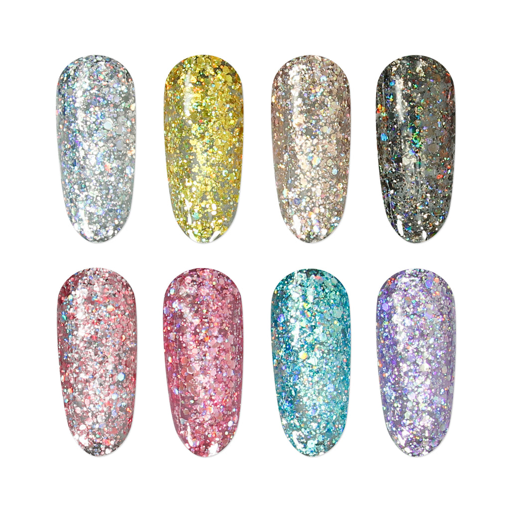 Gel Polish Chunky Glitter Colours