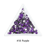 #18 Purple - Bag of Flat Back Rhinestone Face Gems in Choice of 2,3,4,5 or 6mm