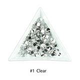 #1 Clear - Bag of Flat Back Rhinestone Face Gems in Choice of 2,3,4,5 or 6mm