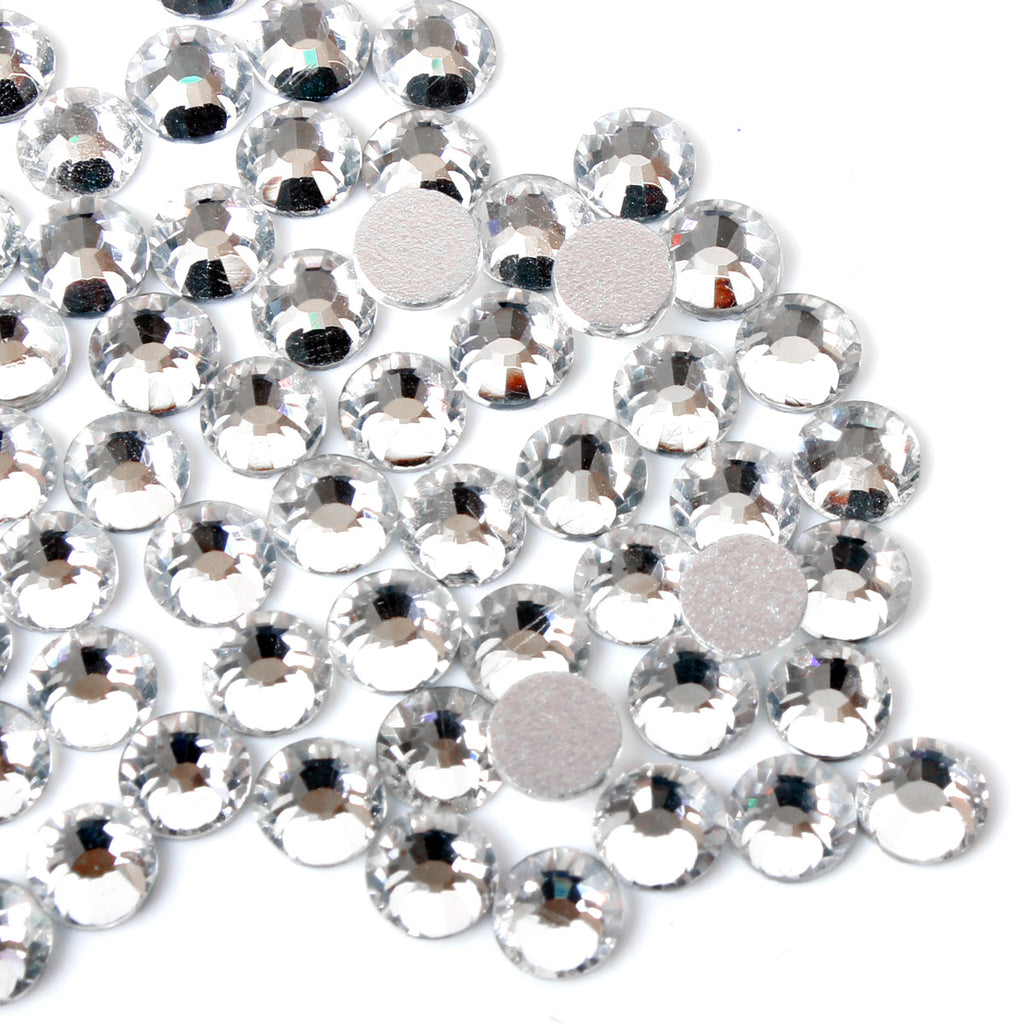 100pcs 【Clear】 Glass Rhinestone Face Gems 2mm-5mm