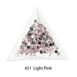 #21 Light Pink - Bag of Flat Back Rhinestone Face Gems in Choice of 2,3,4,5 or 6mm