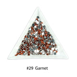 #29 Garnet - Bag of Flat Back Rhinestone Face Gems in Choice of 2,3,4,5 or 6mm