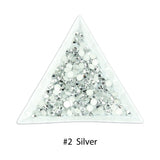 #2 Silver - Bag of Flat Back Rhinestone Face Gems in Choice of 2,3,4,5 or 6mm