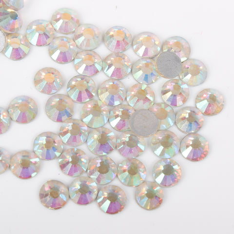 evol iridescent clear glass rhinestone face gems