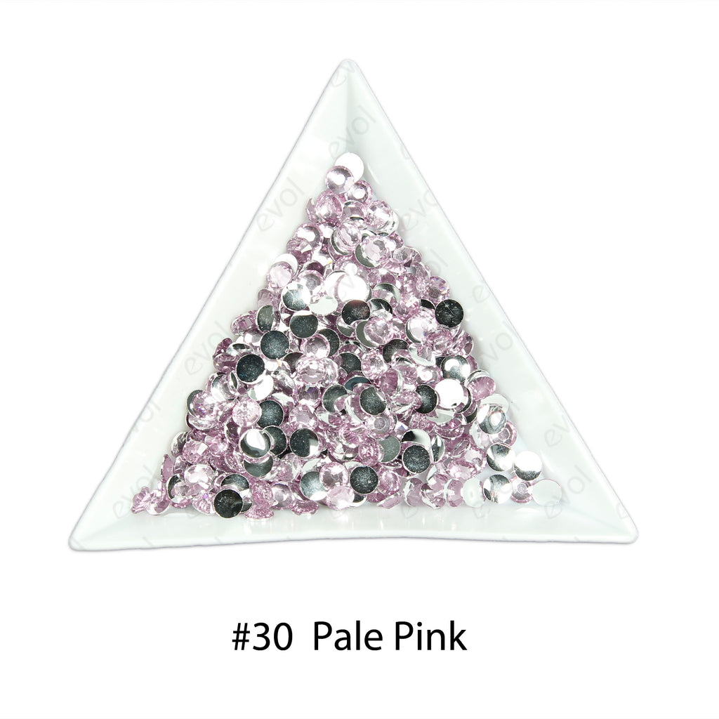 #30 Pale Pink - Bag of Flat Back Rhinestone Face Gems in Choice of 2,3,4,5 or 6mm