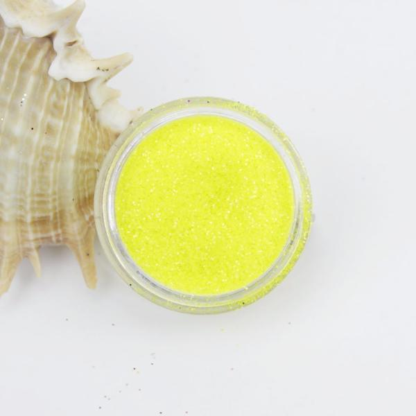 evol fluorescent yellow face dust glitter