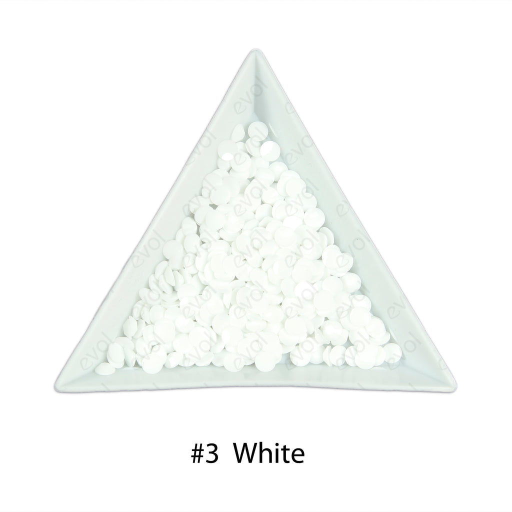 #3 White - Bag of Flat Back Rhinestone Face Gems in Choice of 2,3,4,5 or 6mm
