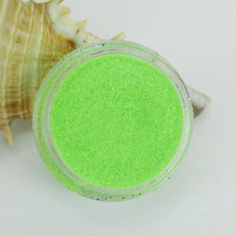 evol fluorescent green face dust glitter