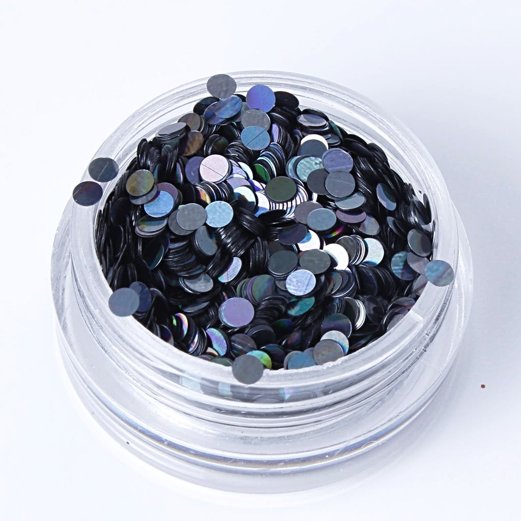 Holographic Smoke 2mm or 3mm Disc Shape Cosmetic Glitter