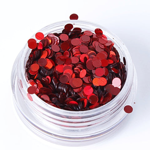 Holographic Red 2mm or 3mm Disc Shape Cosmetic Glitter