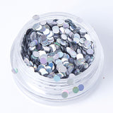 Holographic Silver 2mm or 3mm Disc Shape Cosmetic Glitter