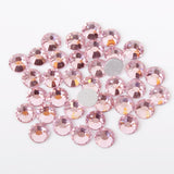 100pcs 【Light Pink】 Glass Rhinestone Face Gems 2mm-5mm