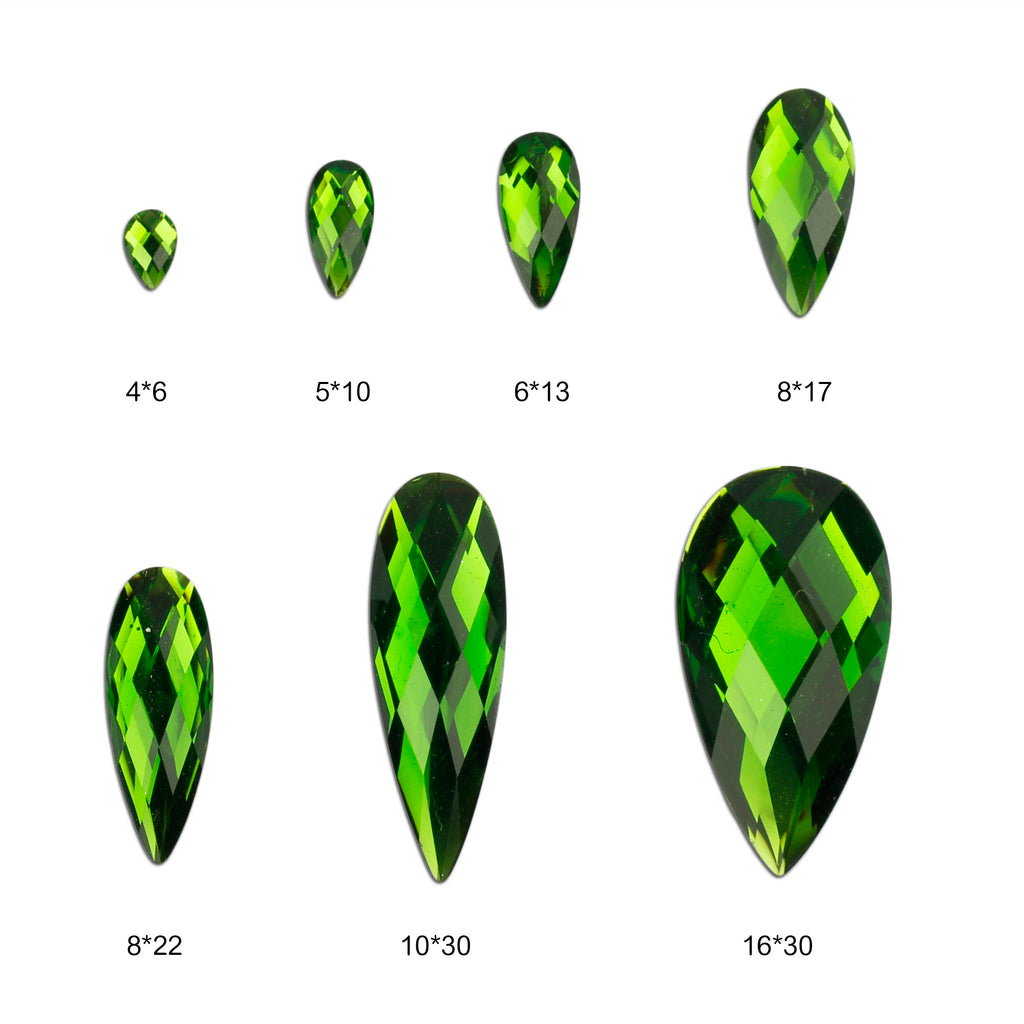 evol emerald tear drop face gems glamourous