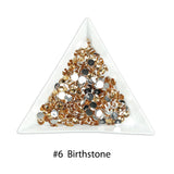 #6 Brithstone - Bag of Flat Back Rhinestone Face Gems in Choice of 2,3,4,5 or 6mm