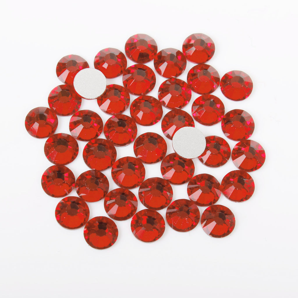 【Red】 Glass Rhinestone Face Gems 2mm-5mm
