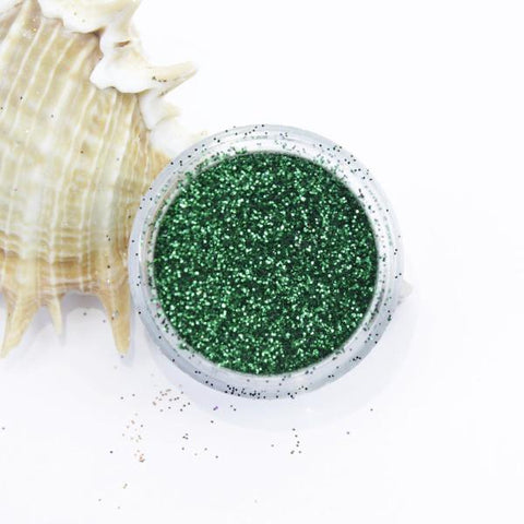 evol metallic green dust face glitter