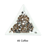 #8 Coffee - Bag of Flat Back Rhinestone Face Gems in Choice of 2,3,4,5 or 6mm