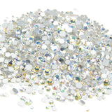 1000pcs Mixed Size 【Sparkle】Glass Rhinestone Face Gems