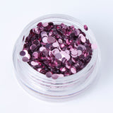 Metallic Pink 2mm Disc Shape Cosmetic Glitter