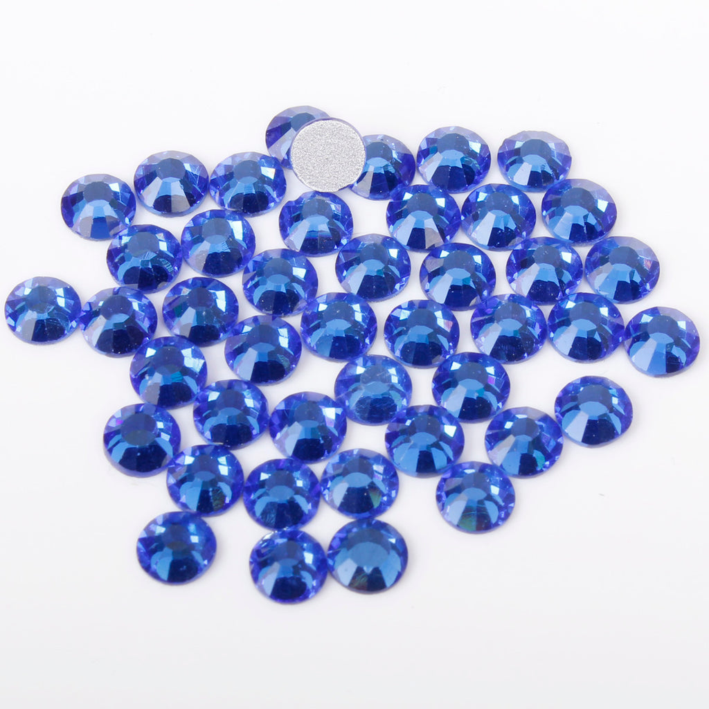 【Royal Blue】 Glass Rhinestone Face Gems 2mm-5mm