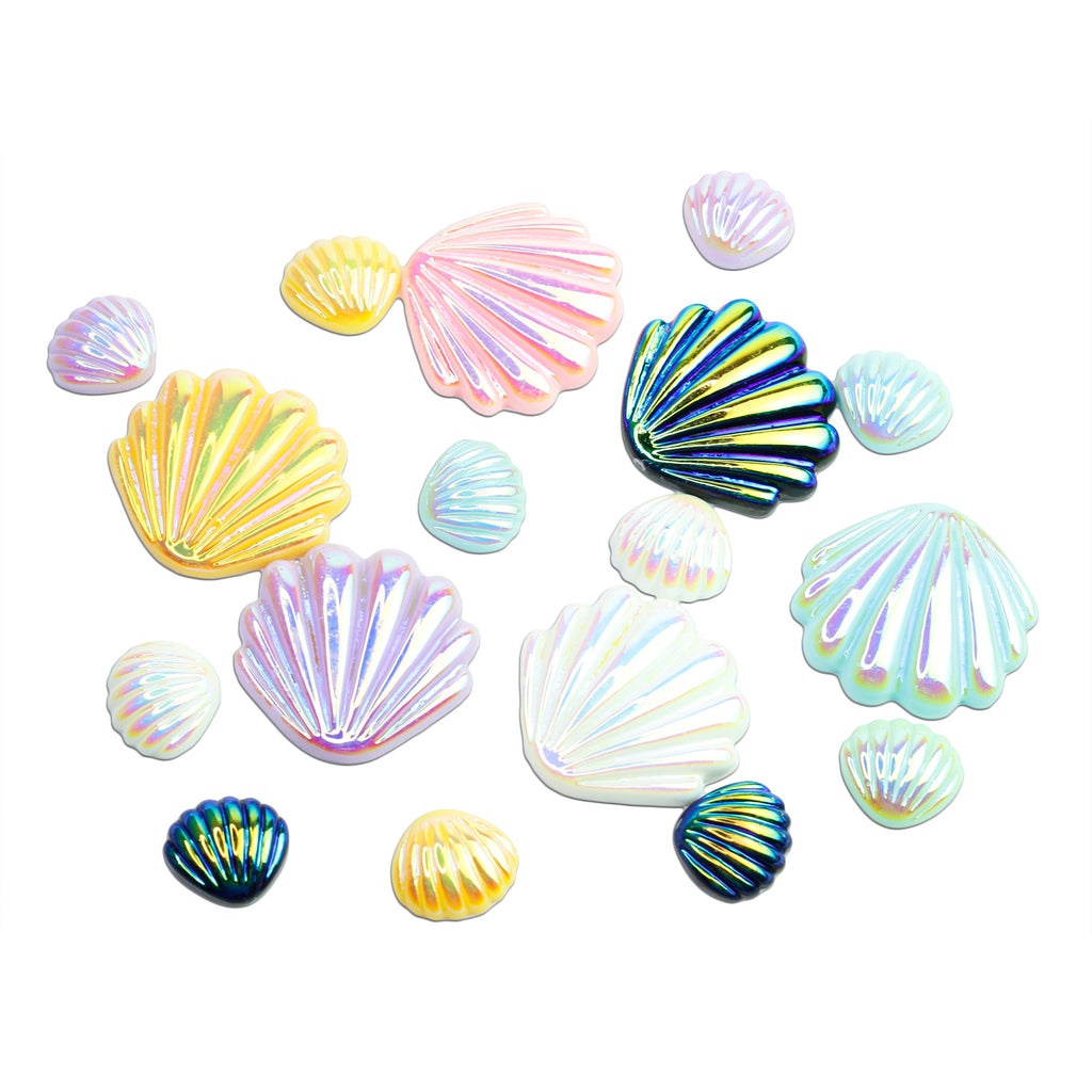 evol oyster shell iridescent cabochons for mermaids