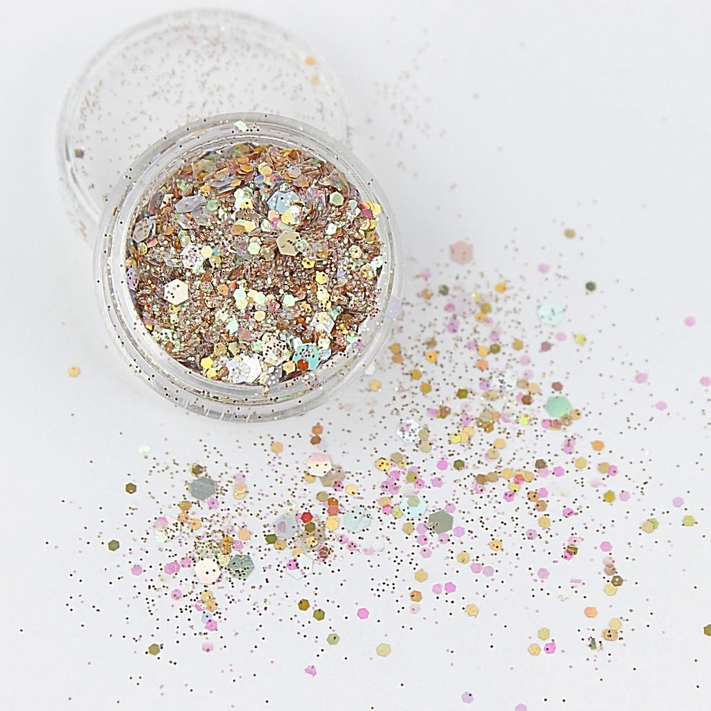 evol sand storm shimmering champagne coloured body glitter mix