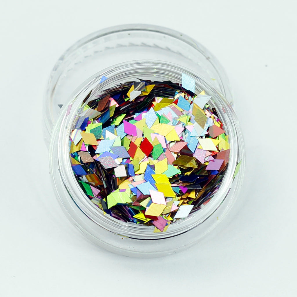 evol holographic mixed colour diamond glitter