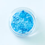 Fluorescent/UV Blue Diamond Shape Face Glitter Size 1mm - 3mm