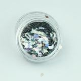 Holographic Silver Diamond Shape Face Glitter Size 1mm - 3mm
