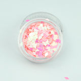 Opaque Iridescent Pink Diamond Shape Face Glitter Size 1mm - 3mm