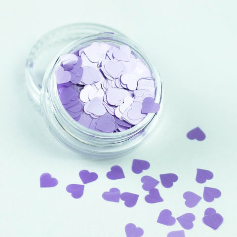 evol purple pearl heart glitter pot great for festivals