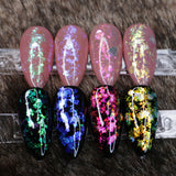 Transparent Nail Art Duo Chrome Chameleon Flakes Colour Changing Shifting