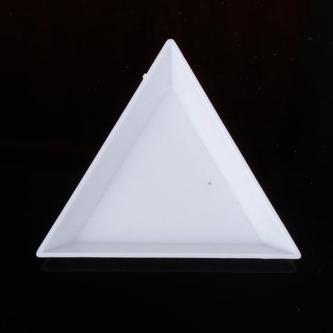 3x Triangle Rhinestone Cabochon Sorting Trays Card Jewellery Making Nail Art