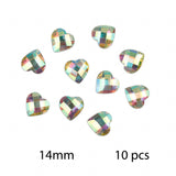 HEART Iridescent Clear Bag of Flat Back Resin Face Body Gems Festival Makeup Jew