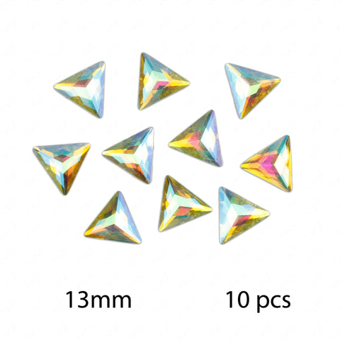 TRIANGLE Iridescent Clear Bag of Flat Back Resin Face Body Gems Festival Makeup Jew