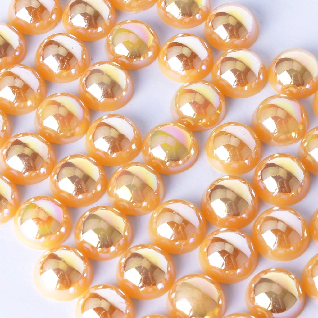 evol ab orange flat back pearls