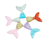 5pcs Glittery Mermaid Tails