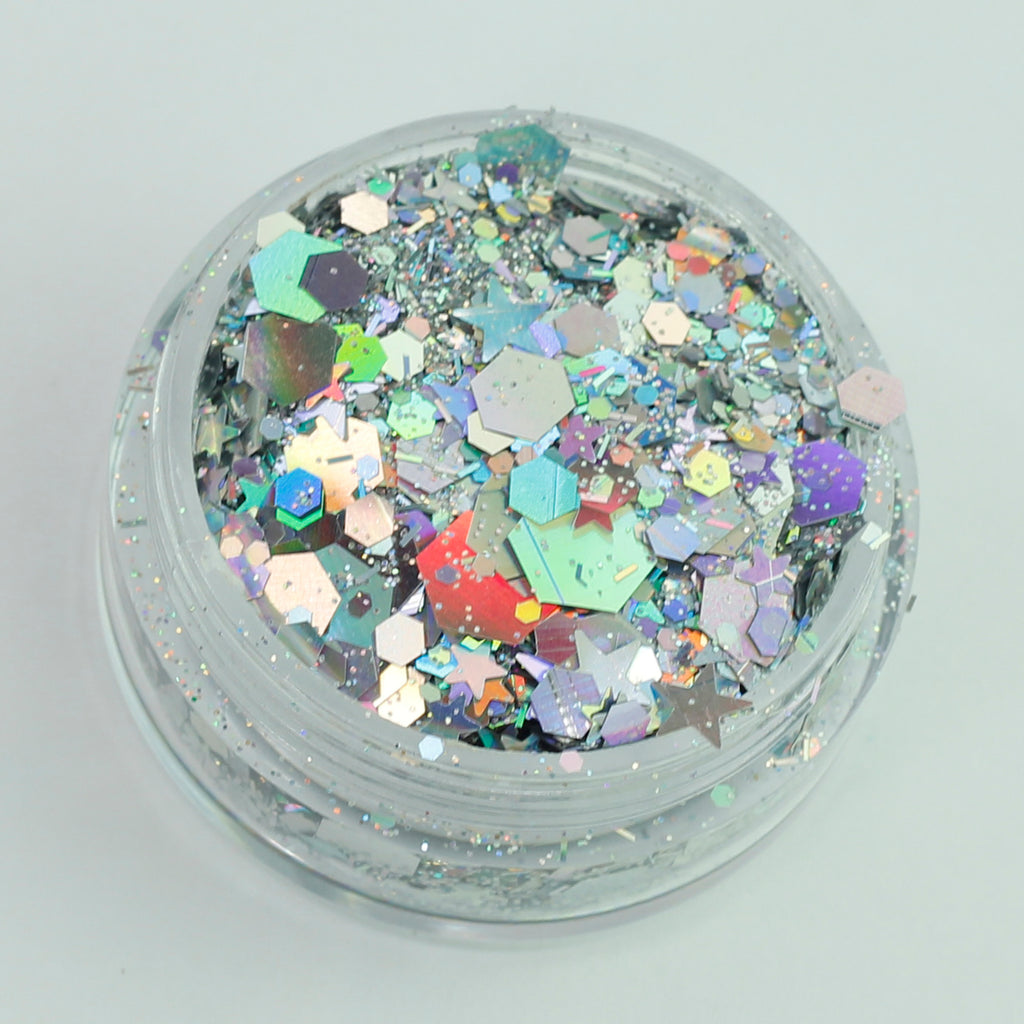 """Andromeda"" Super Chunky Cosmetic Glitter Mix in 5g Pot"