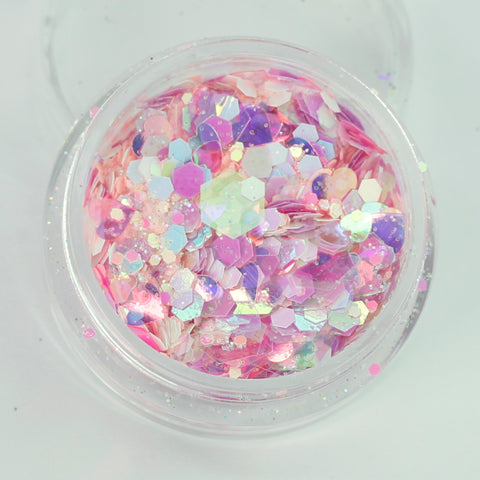 """Candy Floss"" Super Chunky Cosmetic Glitter Mix in 5g Pot"