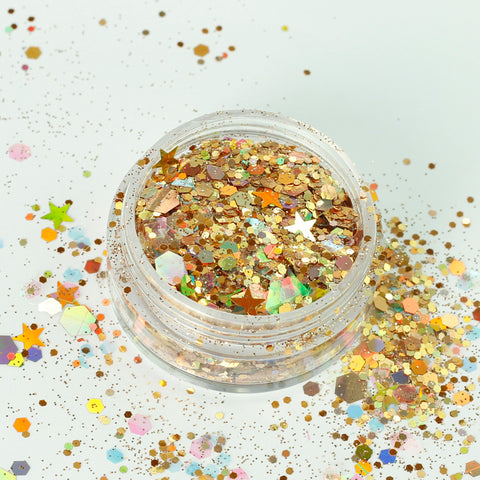 """Gypsy Gold"" Super Chunky Cosmetic Glitter Mix in 5g Pot"