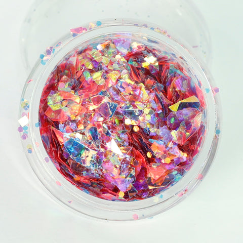 """Malibu"" Super Chunky Cosmetic Glitter Mix in 5g Pot"