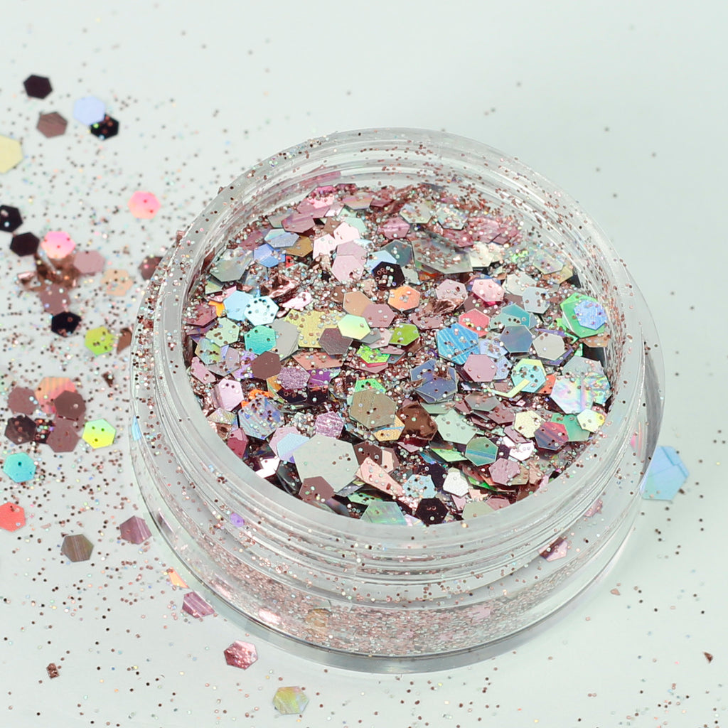 Rose Quartz Super Chunky Cosmetic Glitter Mix