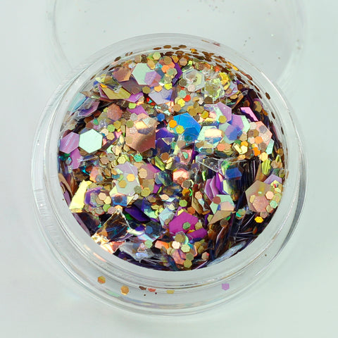 """Enigma"" Super Chunky Cosmetic Glitter Mix in 5g Pot"