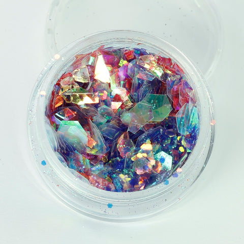 """Sea Of Tranquillity"" Super Chunky Cosmetic Glitter Mix in 5g Pot"